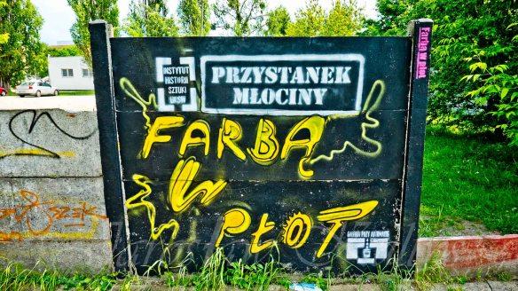 Farbą w płot - Street Art - Warszawa 30/05/2015